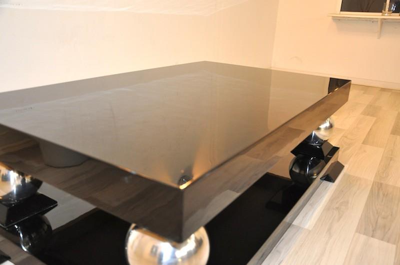 art deco couchtisch mit wundervollen chromf ssen ebay. Black Bedroom Furniture Sets. Home Design Ideas
