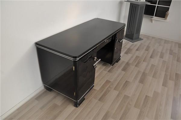 schmaler art deco schreibtisch ebay. Black Bedroom Furniture Sets. Home Design Ideas