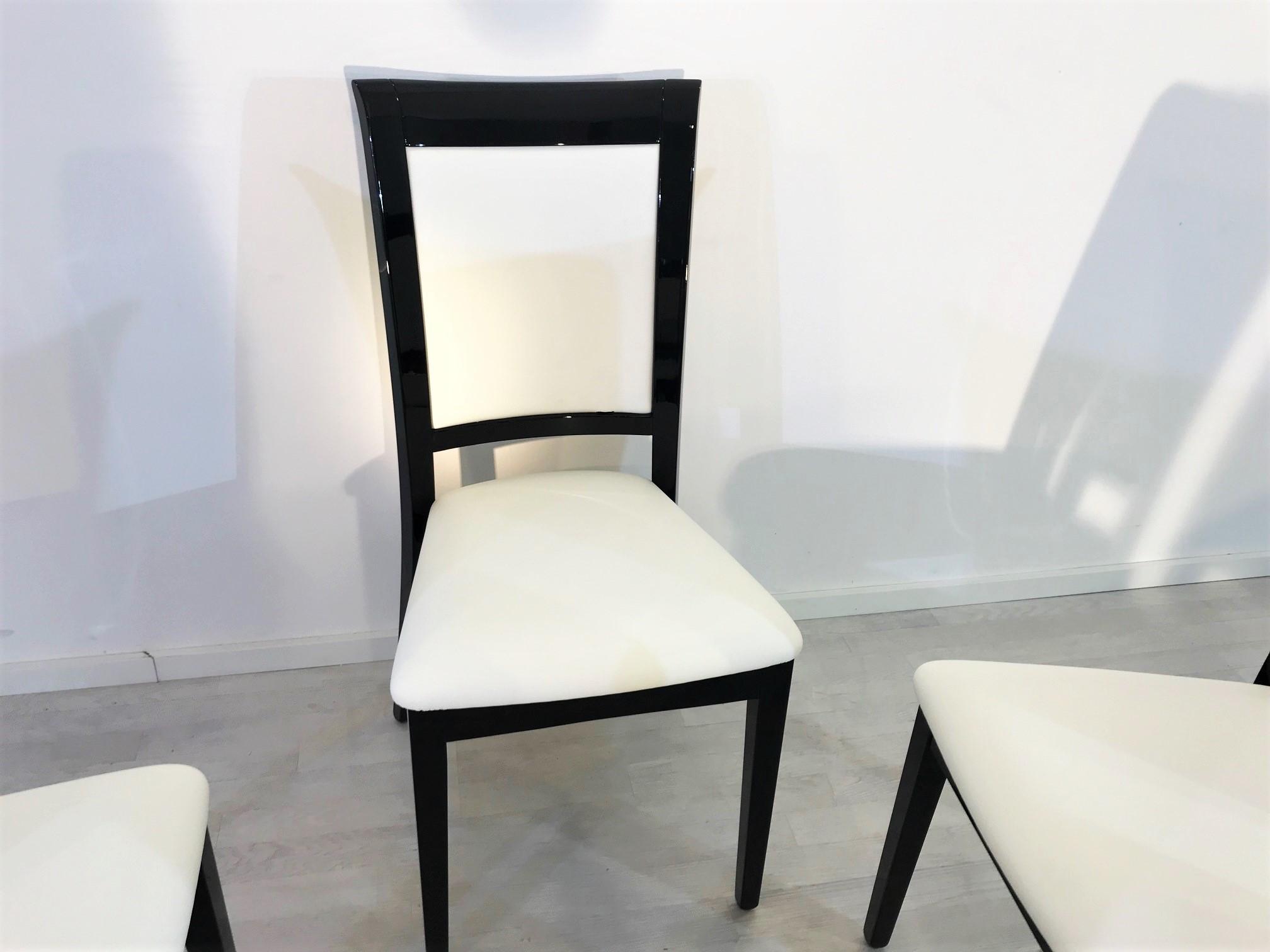 st hle im art deco stil gearbeitet original antike m bel. Black Bedroom Furniture Sets. Home Design Ideas