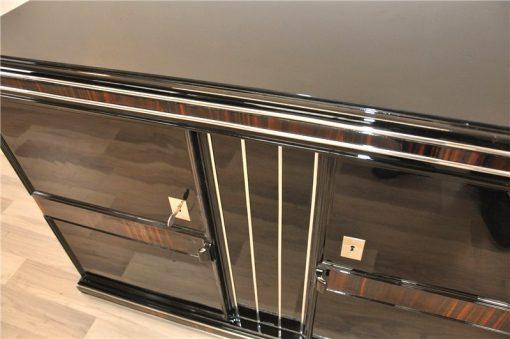 Art Deco Sideboard, Frankreich, Holzapplikationen