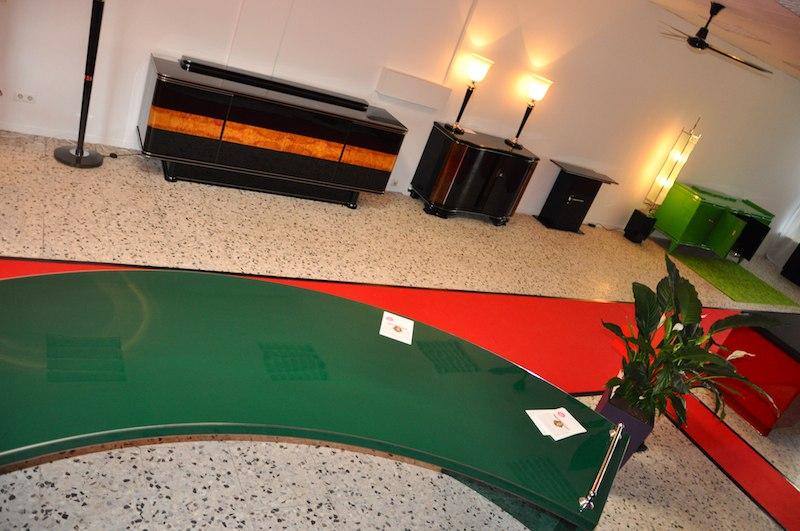 art deco xxl schreibtisch in racing green original. Black Bedroom Furniture Sets. Home Design Ideas