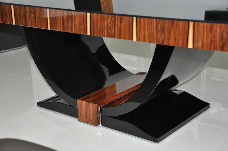 art deco couchtisch mit wundervollem furnier ebay. Black Bedroom Furniture Sets. Home Design Ideas