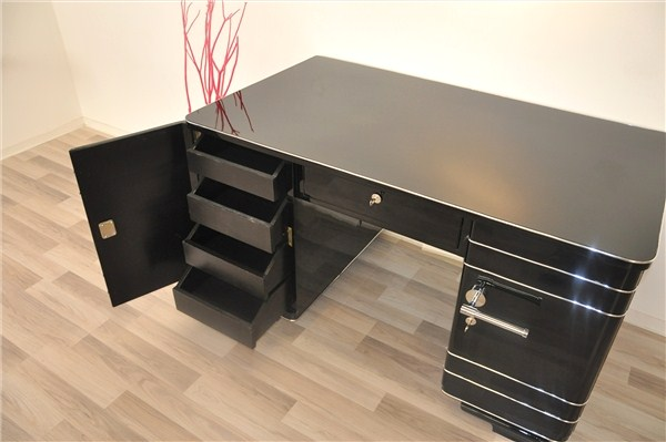 art deco chromliner schreibtisch ebay. Black Bedroom Furniture Sets. Home Design Ideas
