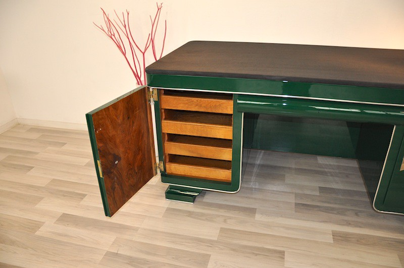 einmalig sch ner art deco schreibtisch mit seltenheitswert ebay. Black Bedroom Furniture Sets. Home Design Ideas