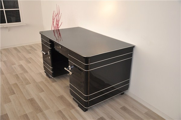art deco chromliner schreibtisch original antike m bel. Black Bedroom Furniture Sets. Home Design Ideas