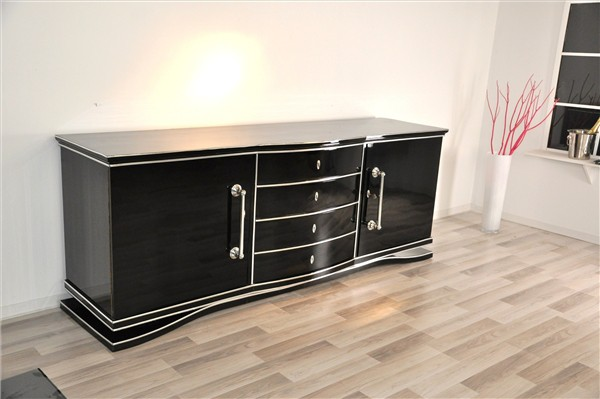 art deco sideboard xxl aus frankreich. Black Bedroom Furniture Sets. Home Design Ideas