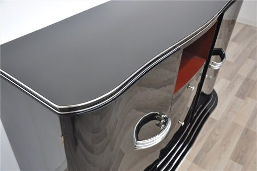 Art Deco Sideboard, offene Fächer