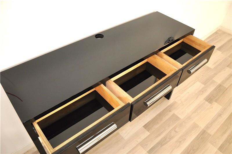 klavierlack konsole im bauhaus stil ebay. Black Bedroom Furniture Sets. Home Design Ideas