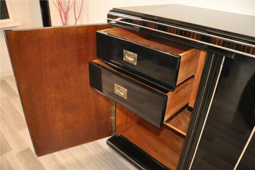großes Art Deco Sideboard, Holzapplikationen