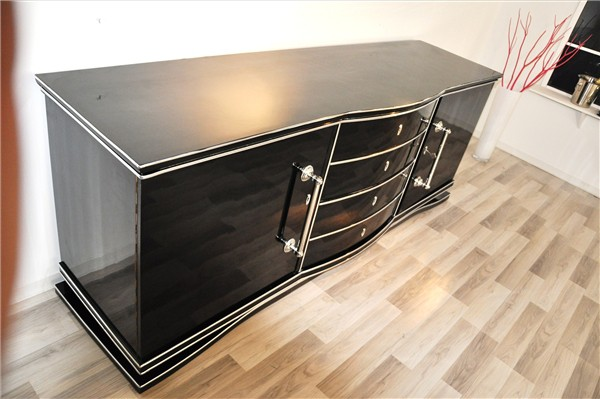 art deco sideboard xxl aus frankreich original antike m bel. Black Bedroom Furniture Sets. Home Design Ideas