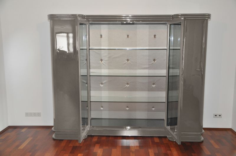 art deco schrank paris in metallic silber m nster. Black Bedroom Furniture Sets. Home Design Ideas