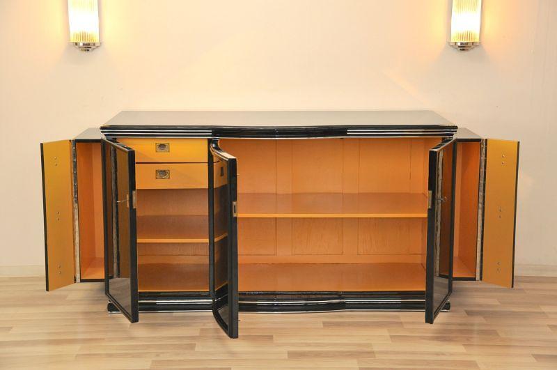 art deco sideboard new york gelb ebay. Black Bedroom Furniture Sets. Home Design Ideas