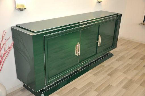 Art Deco Sideboard, grader Korpus, Jaguar Green
