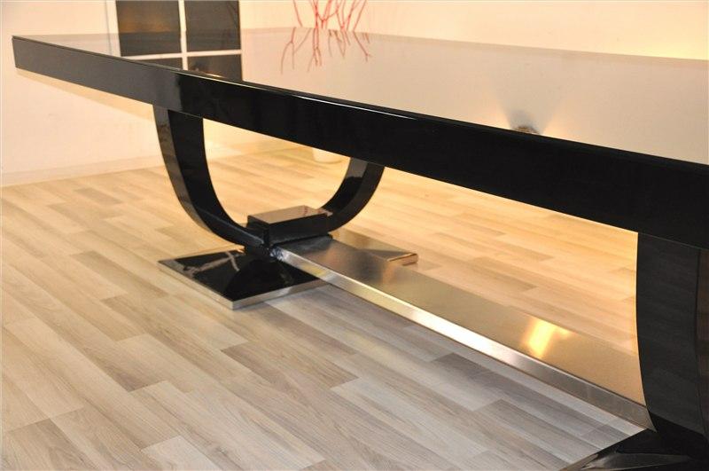 art deco esstisch mit 12 passenden st hlen original antike m bel. Black Bedroom Furniture Sets. Home Design Ideas