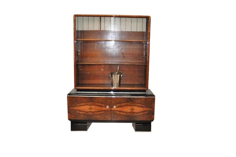 prachtvolle art deco vitrine original antike m bel. Black Bedroom Furniture Sets. Home Design Ideas