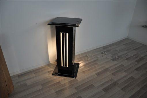 Art deco, Säulenlampe. hochglanzschwarz