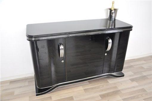 Art Deco Sideboard, Chrombeschläge
