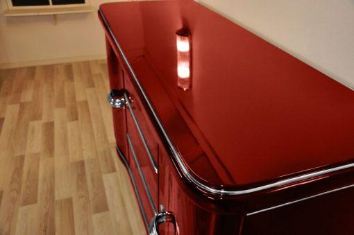 Art Deco Chromliner, Sideboard, Metallic rot