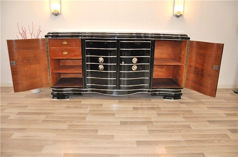 seltener art deco chromliner original antike m bel. Black Bedroom Furniture Sets. Home Design Ideas