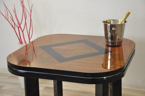Art Deco Tisch, Nussbaumholz