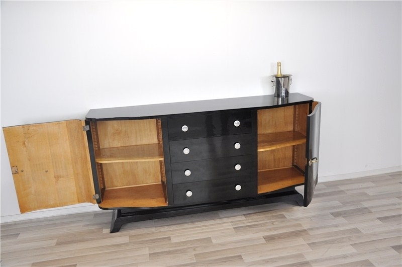 antikes art deco sideboard mit schubladen ebay. Black Bedroom Furniture Sets. Home Design Ideas