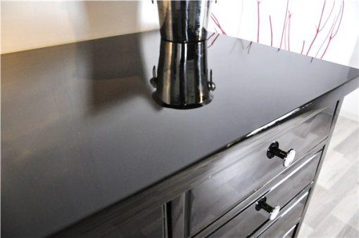 Art Deco Schubladensidboard, rotes Innenleben