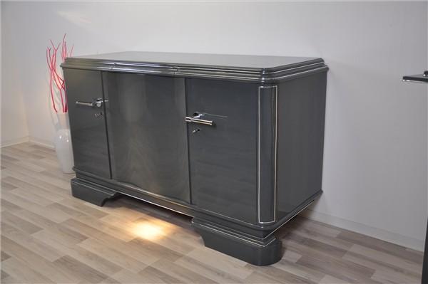 graues metallic sideboard original antike m bel. Black Bedroom Furniture Sets. Home Design Ideas