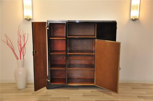 Art Deco Highboard, Stauraum, Lederplatte