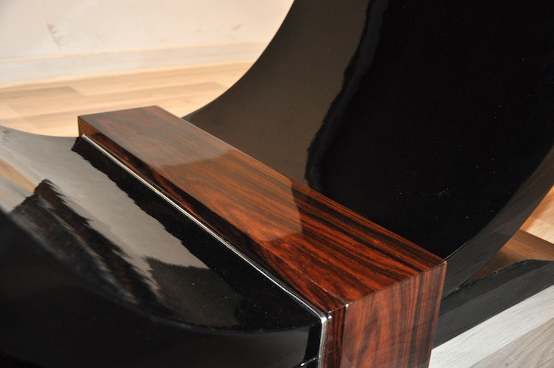 art deco coffee table with a wonderful foot ebay. Black Bedroom Furniture Sets. Home Design Ideas