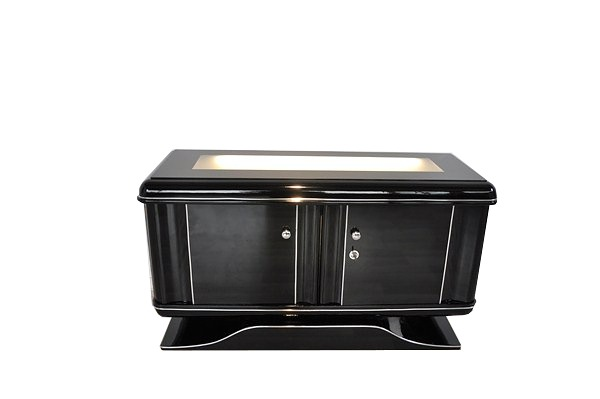 illuminated art deco chest of drawers ebay. Black Bedroom Furniture Sets. Home Design Ideas