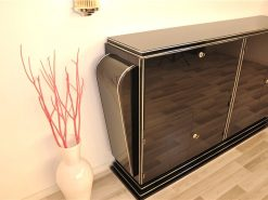 Art Deco Highboard, prachtvolle Seitenteile