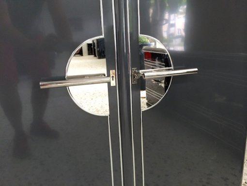 Art Deco Schrank, Graumetallic