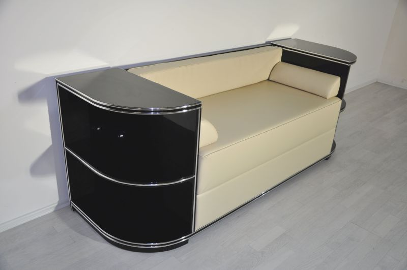 chromliner art deco sofa original antike m bel. Black Bedroom Furniture Sets. Home Design Ideas