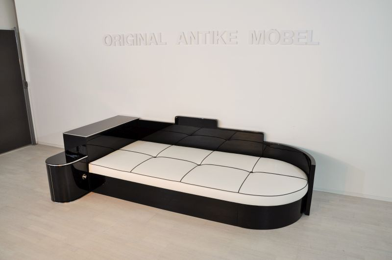 fantastisches art deco daybed original antike m bel. Black Bedroom Furniture Sets. Home Design Ideas