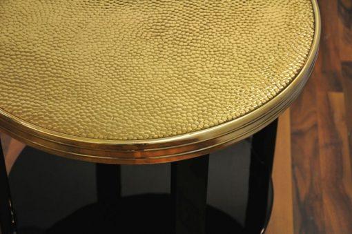Art Deco Beistelltisch, goldene Platte