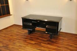 Belgischer Art Deco Schreibtisch, Chromliner