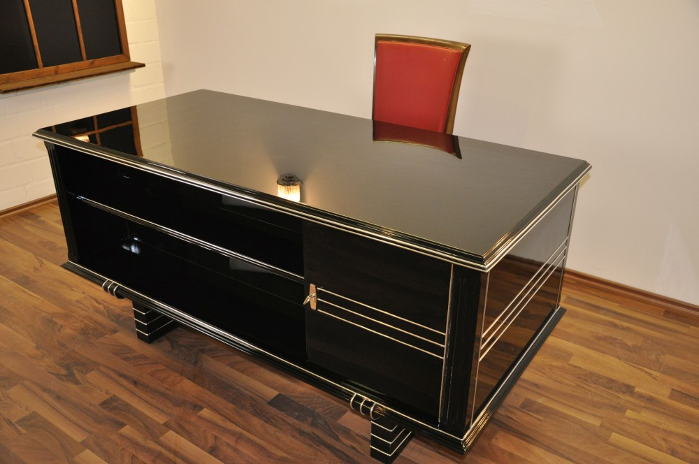 belgischer art deco schreibtisch ebay. Black Bedroom Furniture Sets. Home Design Ideas
