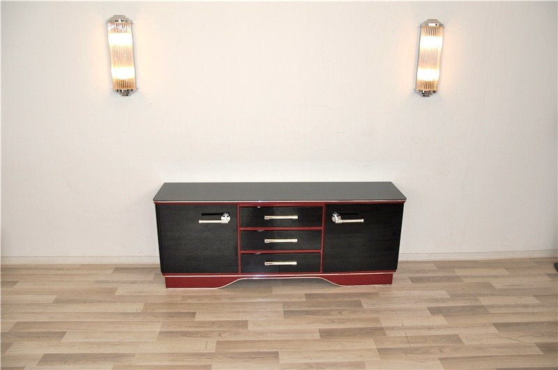zweifarbige art deco kommode original antike m bel. Black Bedroom Furniture Sets. Home Design Ideas