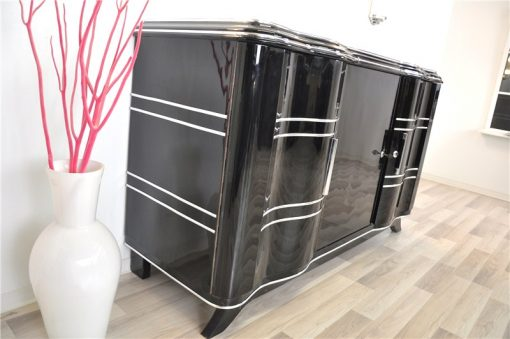 Art Deco Sideboard, Eleganter Chromliner