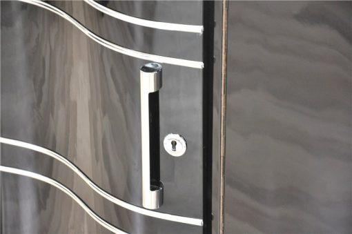 Art Deco Sideboard, Eleganter Chromliner
