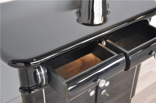Art Deco NBar, gebogene Schubladen