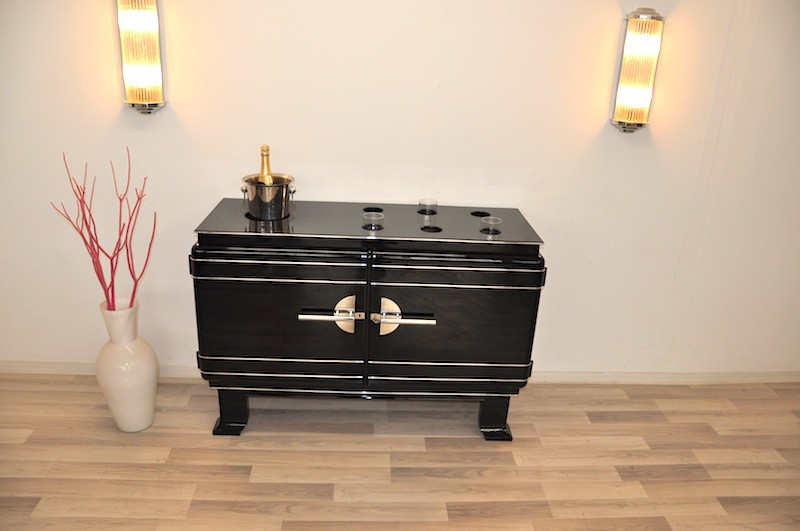 einmaliger art deco whiskey barschrank ebay. Black Bedroom Furniture Sets. Home Design Ideas