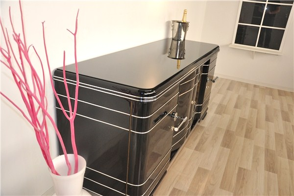 massives xxl art deco sideboard ebay. Black Bedroom Furniture Sets. Home Design Ideas