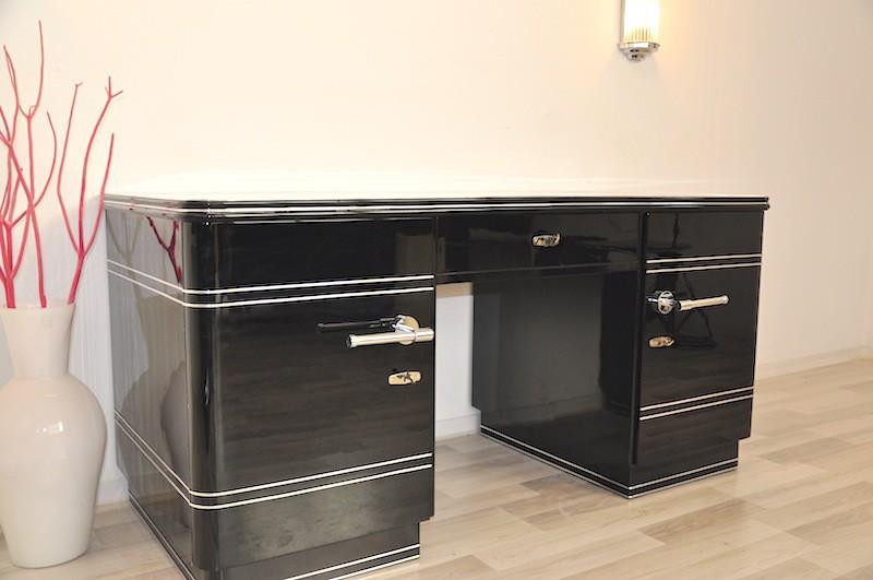 art deco schreibtisch chromliner von 1940 original antike m bel. Black Bedroom Furniture Sets. Home Design Ideas