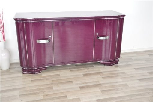 Hochglanzlack in Flieder / Lila, Art Deco SIdeboard