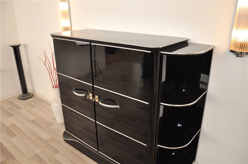luxuri ser art deco barschrank original antike m bel. Black Bedroom Furniture Sets. Home Design Ideas