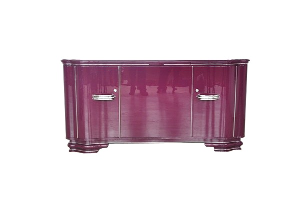 wundersch nes art deco sideboard mit au ergew hnlicher. Black Bedroom Furniture Sets. Home Design Ideas