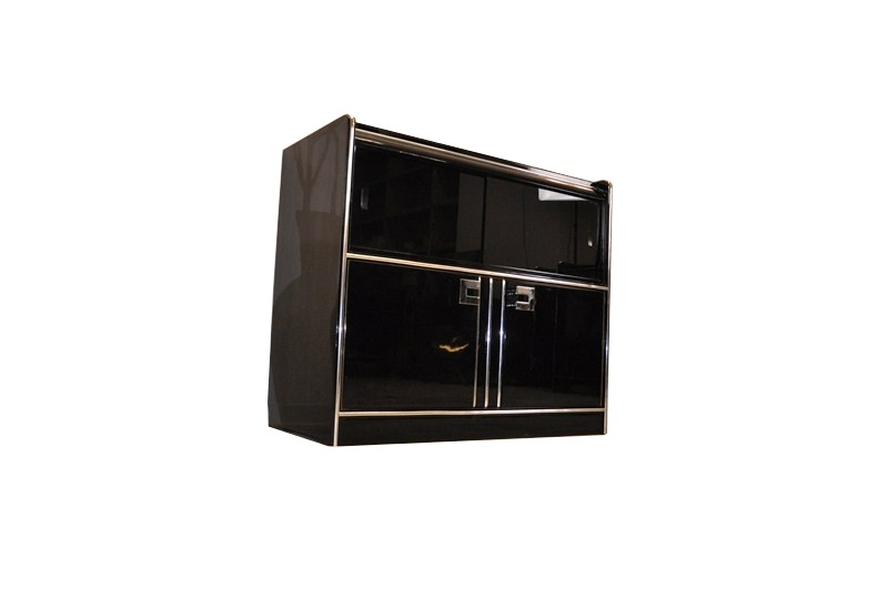 small art deco sideboard mit sliding glass doors ebay. Black Bedroom Furniture Sets. Home Design Ideas