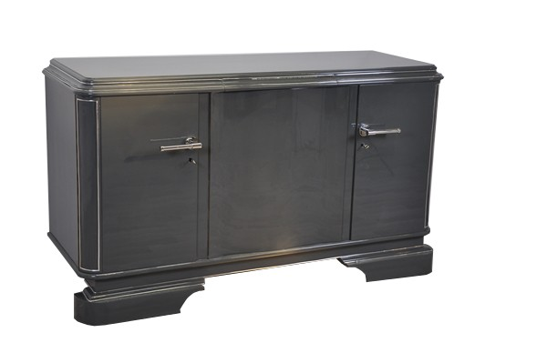 Graues Metallic Sideboard Original Antike Mobel