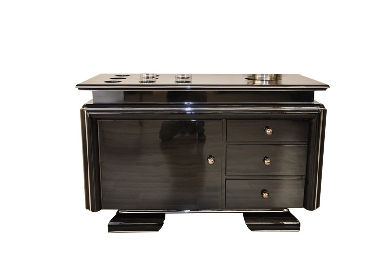 einzigartiges sideboard mit whiskeybaraufsatz original. Black Bedroom Furniture Sets. Home Design Ideas